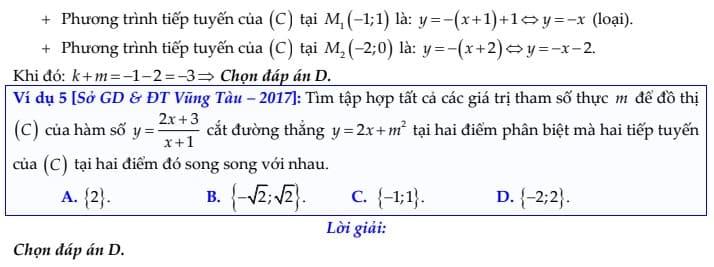phương trình tiếp tuyến 8